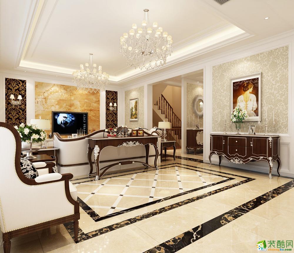 上海349平米美式風格別墅裝修效果圖