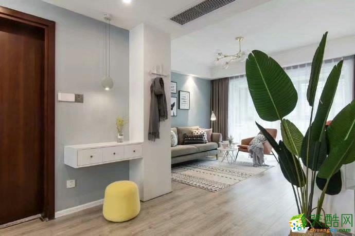 招商公园80㎡两室一厅北欧风格设计案例(6)