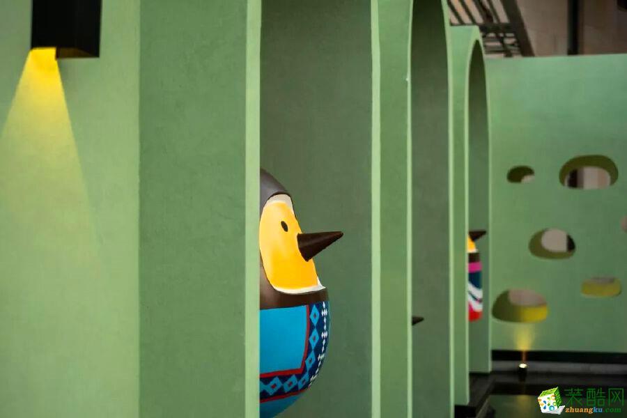 济南淄博椰子鸡主题特色餐厅300平装修效果图