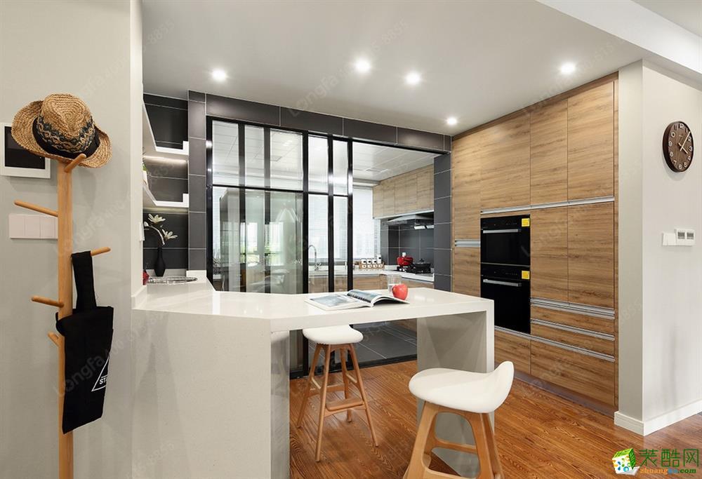 郑州城建?世华龙樾145平三居室北欧装修效果图