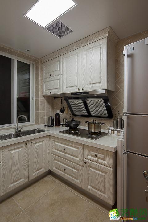 保利心语105平美式风格三室一厅设计案例