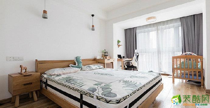 重庆80平米北欧风格两居室装修效果图
