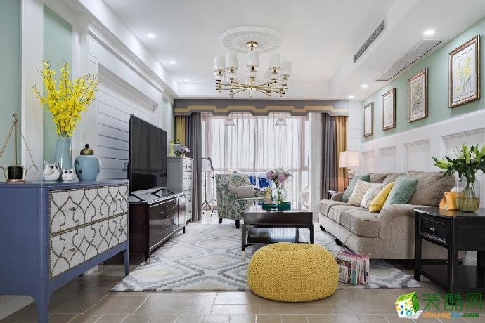 重庆125平米简美风格三居室装修案例