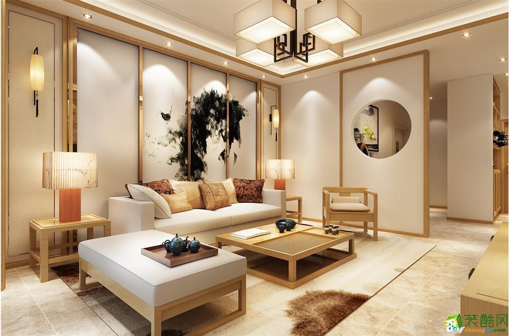 魯班裝飾-山水白沙-130平米新中式