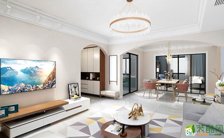 西安龙湖香醍国际社区150平三室北欧风格装修效果图