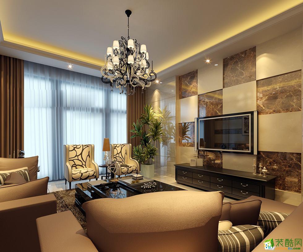 青島120排名現代簡約風格三室兩廳裝修案例