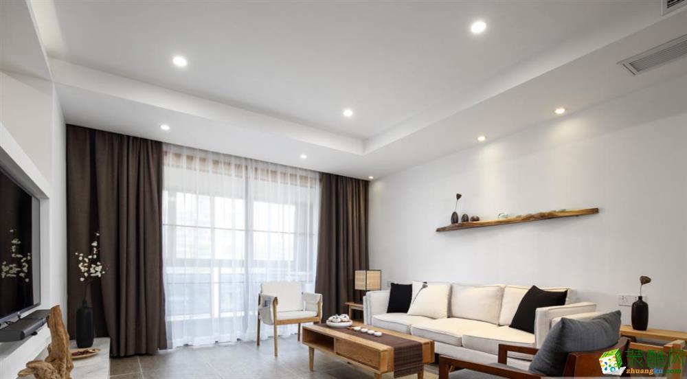 75平米两室两厅一卫装修,日式造就温暖时光!