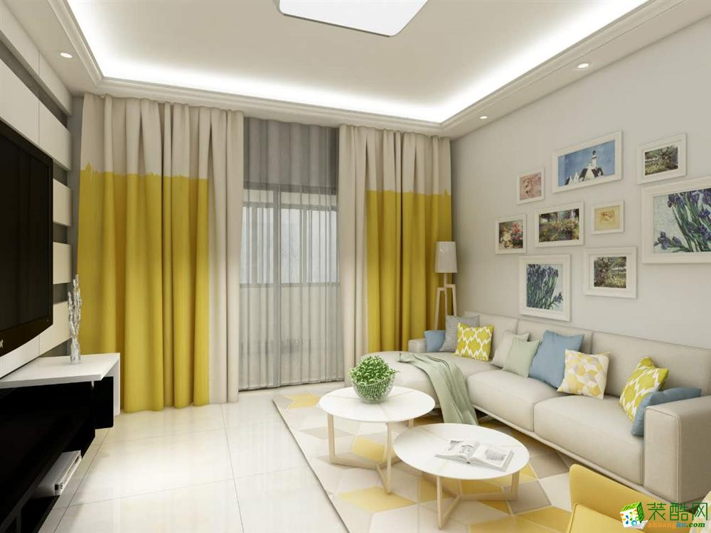 现代简约两居室86平装修效果图