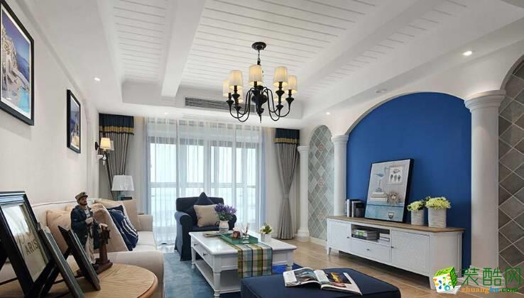 地中海風格兩居室121平裝修效果圖