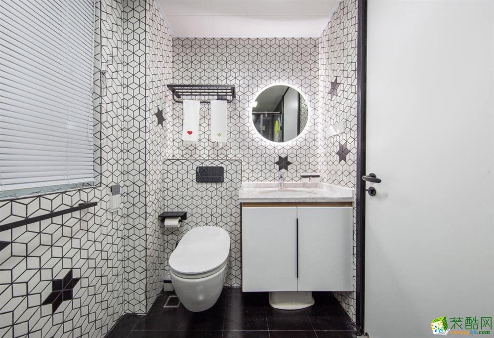 石家庄103㎡北欧风格三室二厅装修效果图