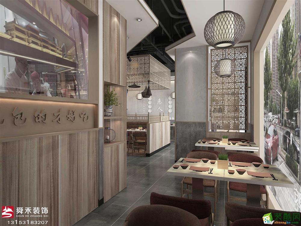 濟南淄博中餐廳300平中式風格裝修效果圖