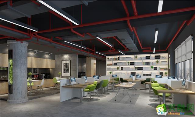 南宁1000平现代风格办公室装修效果图