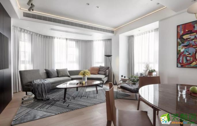 六安135�O 三室现代风格装修效果图-八方门装饰