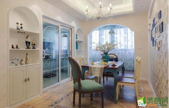 六安127㎡ 三室地中海風格裝修效果圖-八方門裝飾