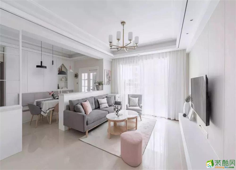 76平米二居室简约风格装修案例图