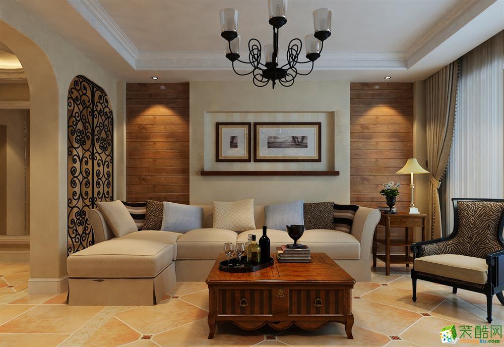 大连132平米美式风格三居室装修效果图