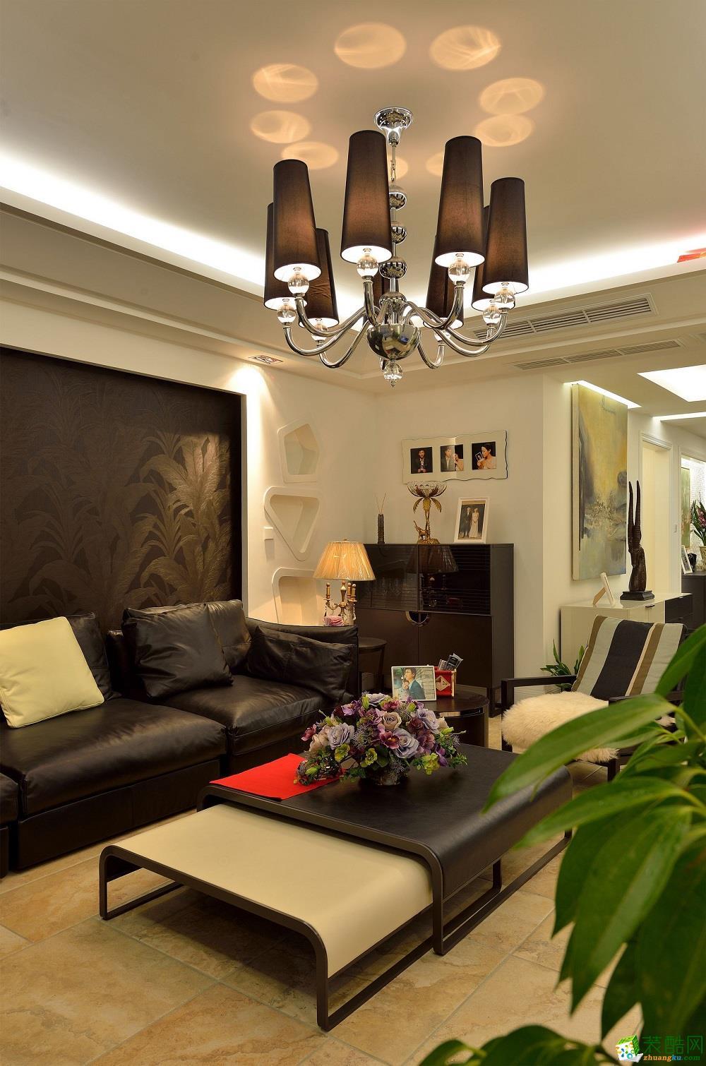 美式风格三居室119平装修效果图