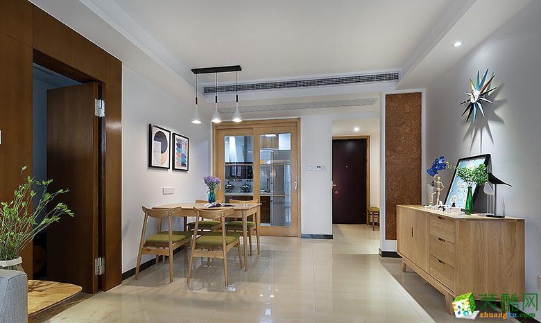 武汉72㎡两室一厅简约风格装修设计效果图