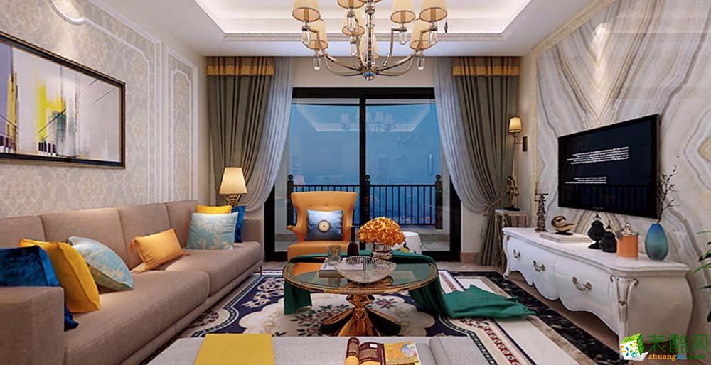 武隆炫麒-121平米三居室-美式风格风格