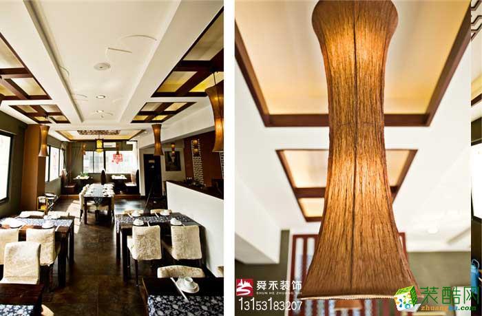 济南酒店餐厅200平中式风格装修效果图