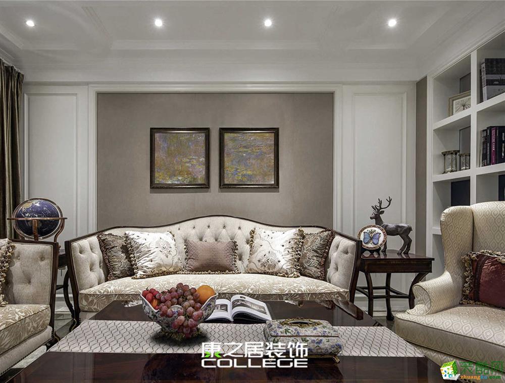 香溢花复式186平美式风格家装设计案例