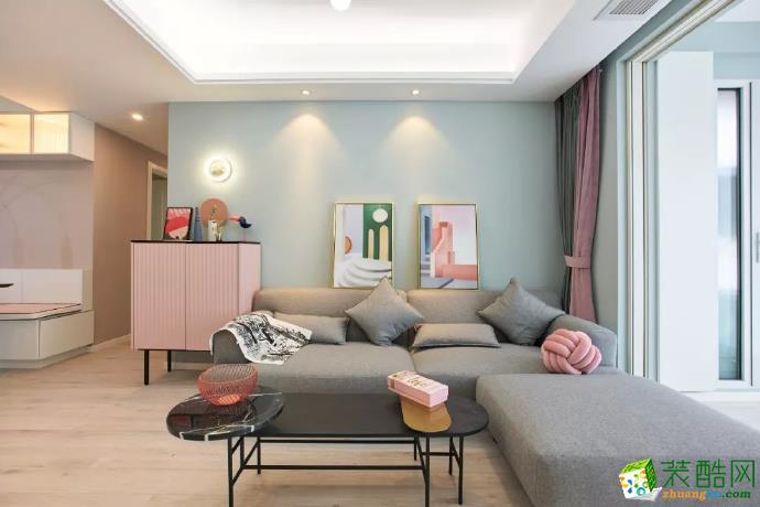 重庆105平米简约风格两居室装修效果图