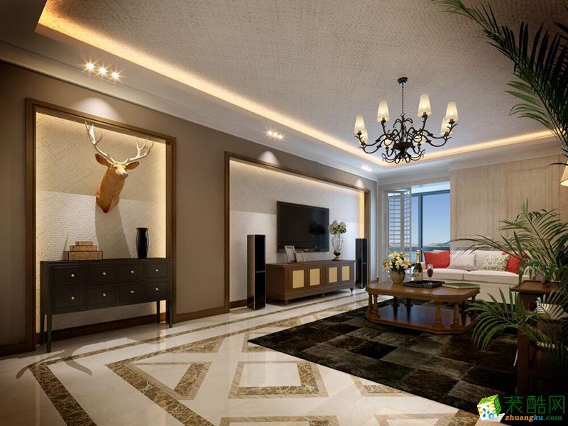 【北京业之峰装饰】万柳怡水园180平美式风格案例