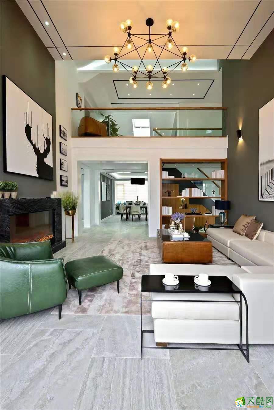 重庆364平米现代风格跃层住宅装修效果图