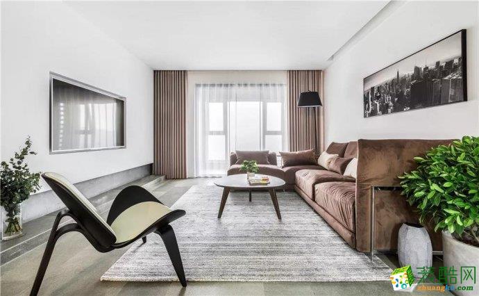 西安西港碧水湾147平三居室现代风格装修效果图
