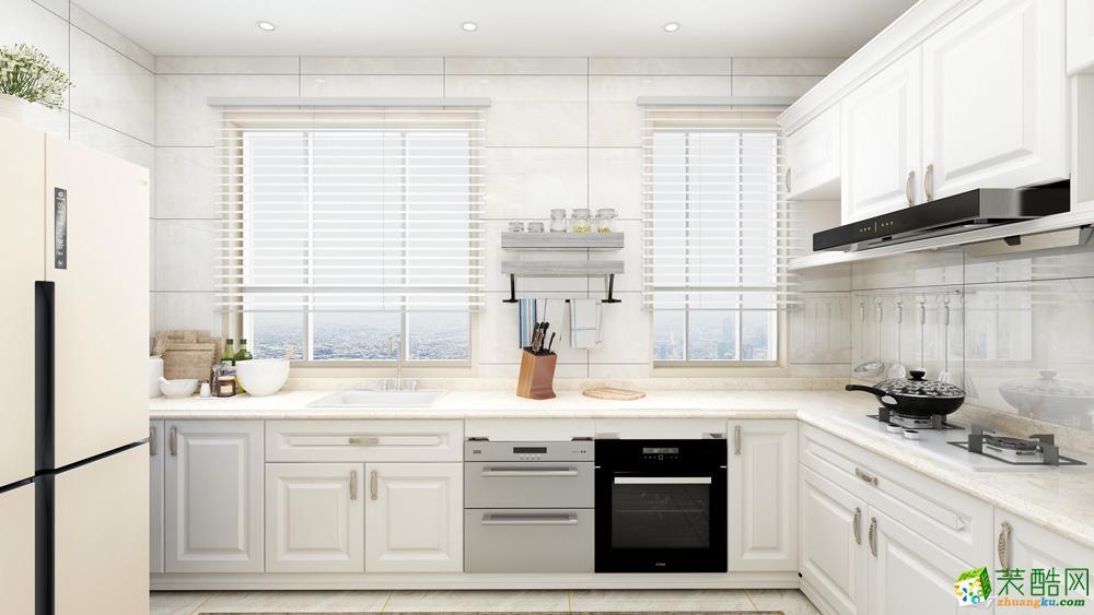 长沙107平米三室一厅一厨一卫欧式风格装修效果图