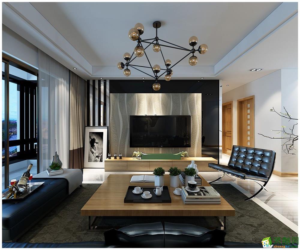 四室两厅装修-140�O现代风格装修效果图