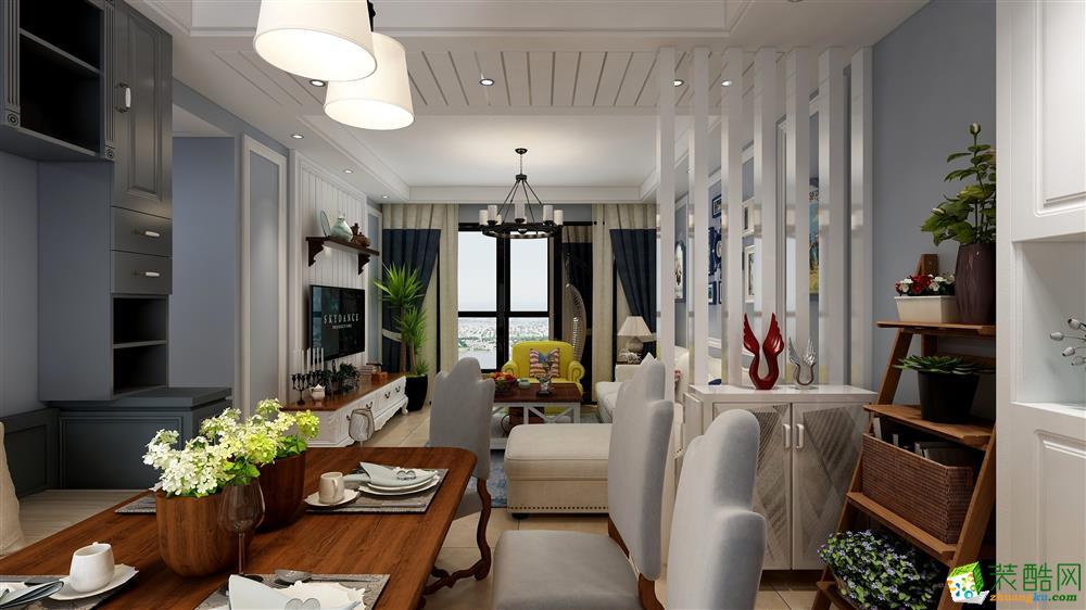 3室2厅装修-110平美式风格装修效果图
