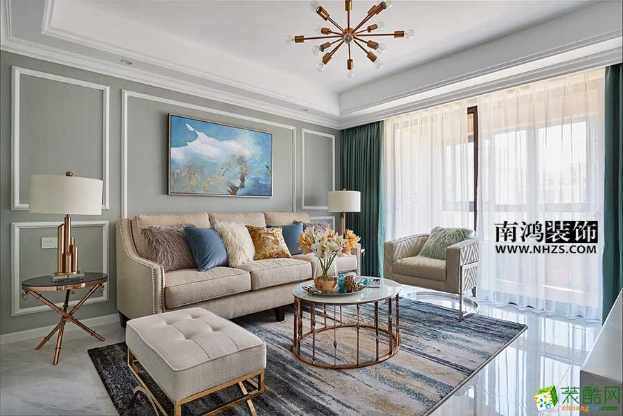  南鴻裝飾 西溪華府89方現代美式風格設計案例