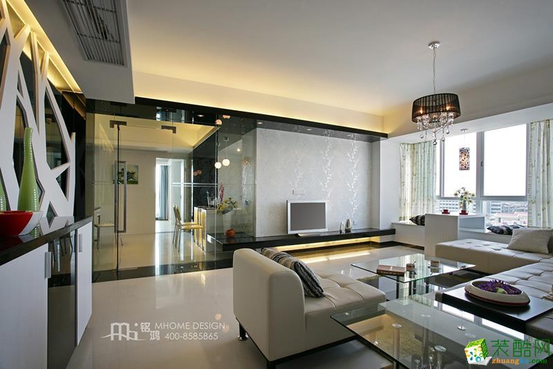 金基晓庐135�O三室两厅现代风格装修设计效果图