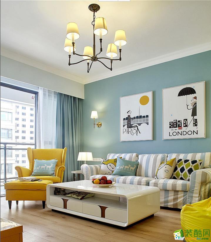 西安東來龍城苑-121平米北歐風格三室兩廳一衛裝修效果圖片