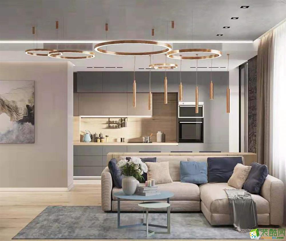骏豪城130平米现代风格四居室装修效果图