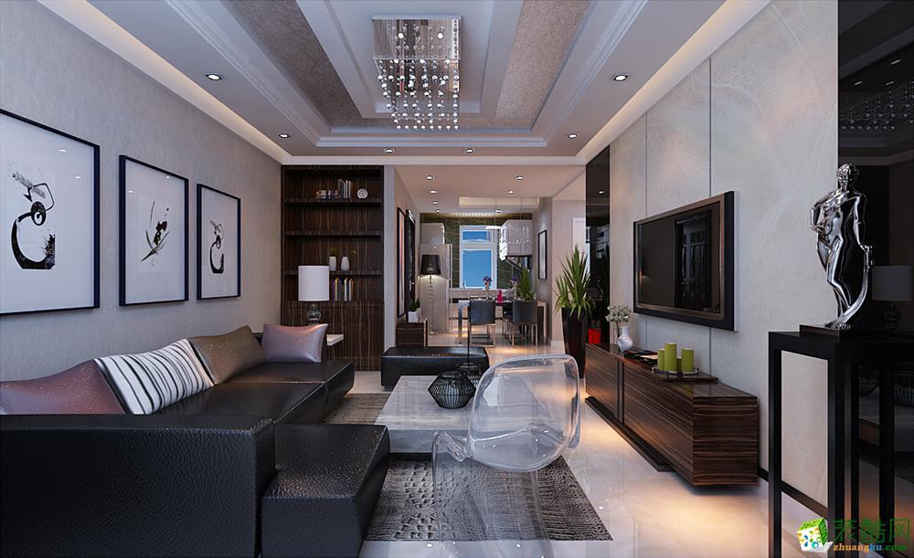 现代简约三居室130平装修效果图