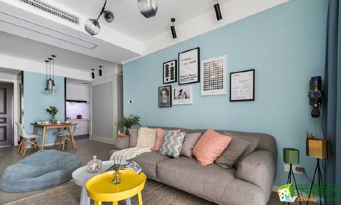 重慶80平米北歐風格兩室一廳裝修案例