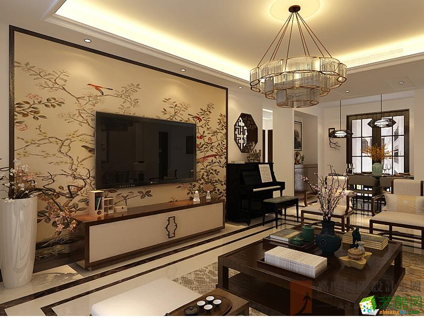 金茂湾140平米新中式风格公寓装修效果图