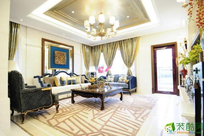 95平米三居室古典风格装修案例图