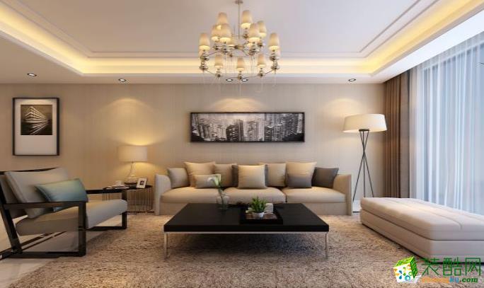 六安105�O三室现代简约风格装修效果图-玖鼎装饰