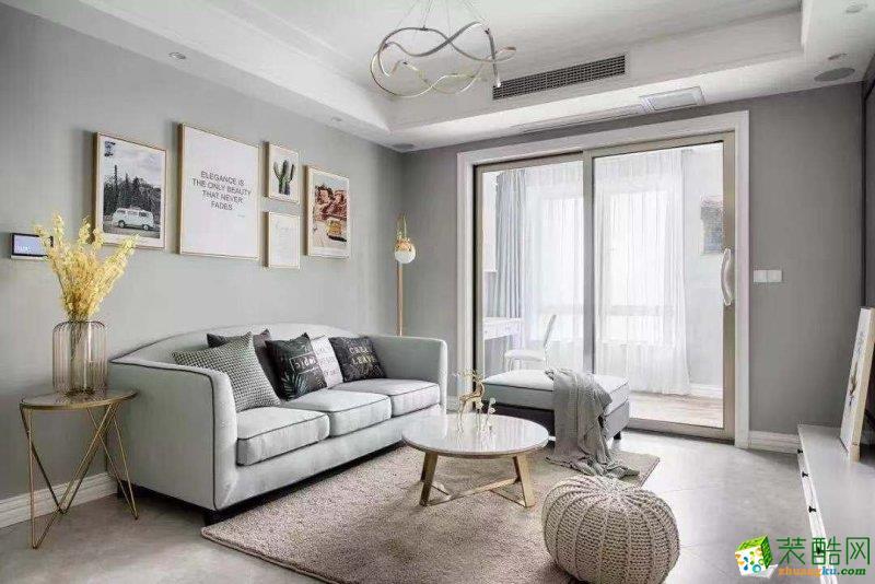 西安華遠辰悅-85平米現代簡約兩室一廳一衛裝修效果圖片