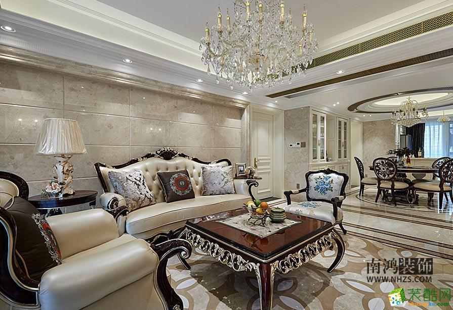 |南鸿装饰|凯旋门189方欧式古典风格设计案例