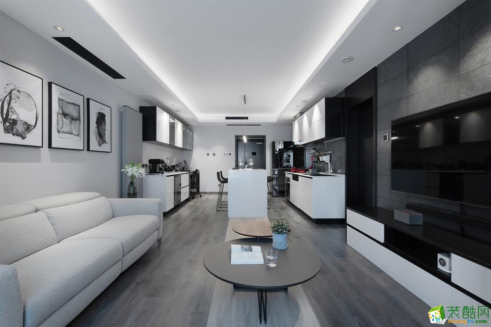 花漫四季120�O三室一厅现代风格设计作品
