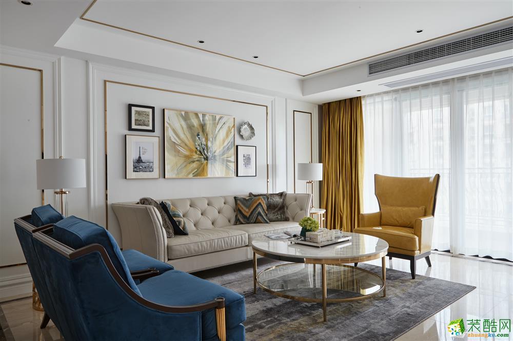 蓝润光华春天116排名简欧风格三室两厅装修案例