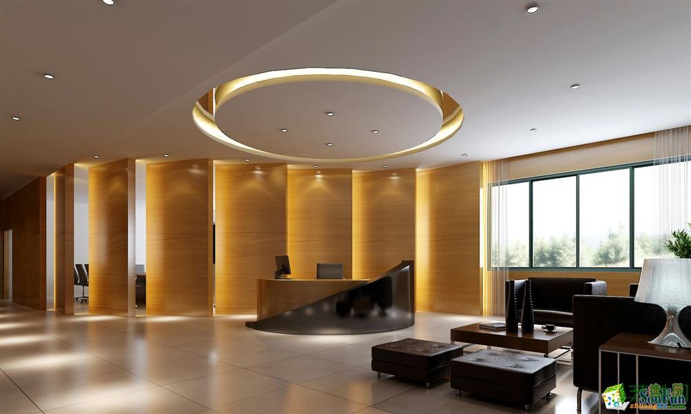 重庆1000�O大型办公室装修案例图片