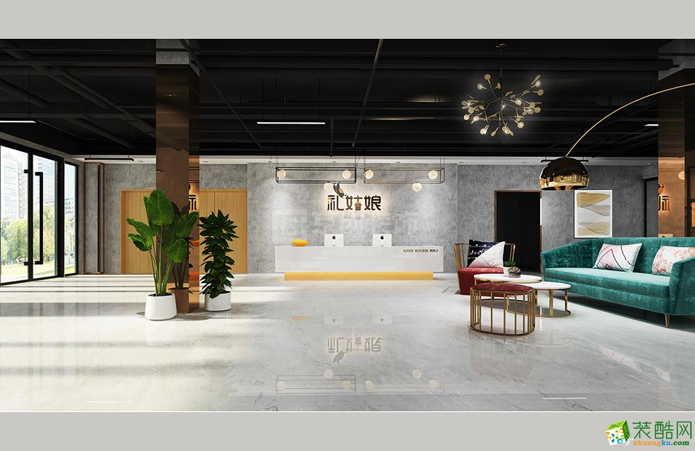 郑州网络公司1200平办公室设计|京创装饰