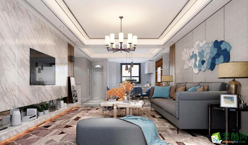 抚州中央豪庭150平四室北欧风格装修效果图-艺品装饰