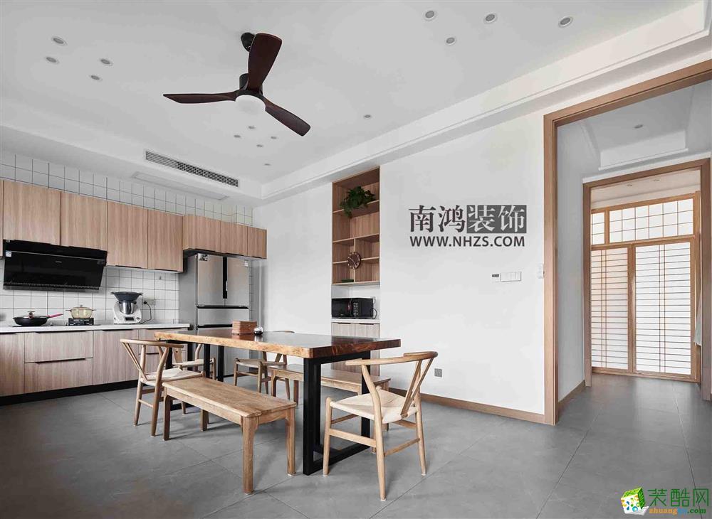  南鸿装饰 西溪和景300方北欧风+新日式设计案例