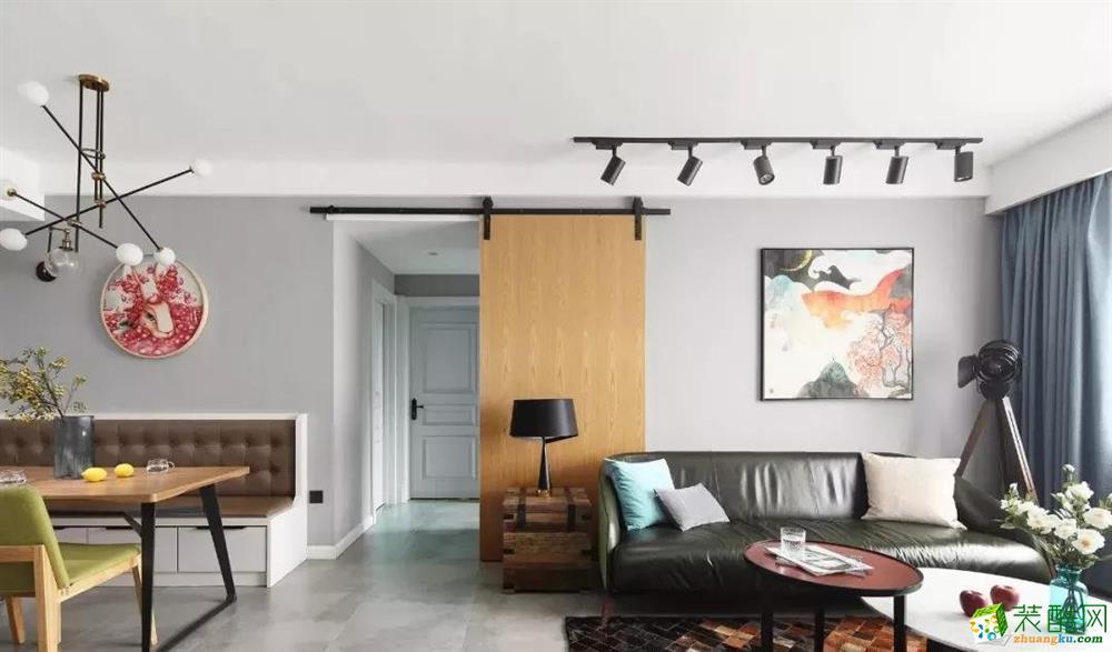 110平米混搭三居室裝修效果圖_混搭風格-三室兩廳兩衛